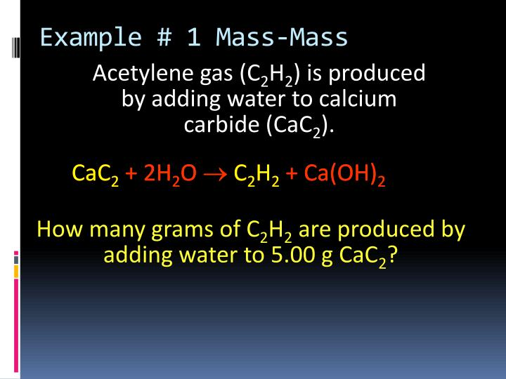 Example # 1 Mass-Mass