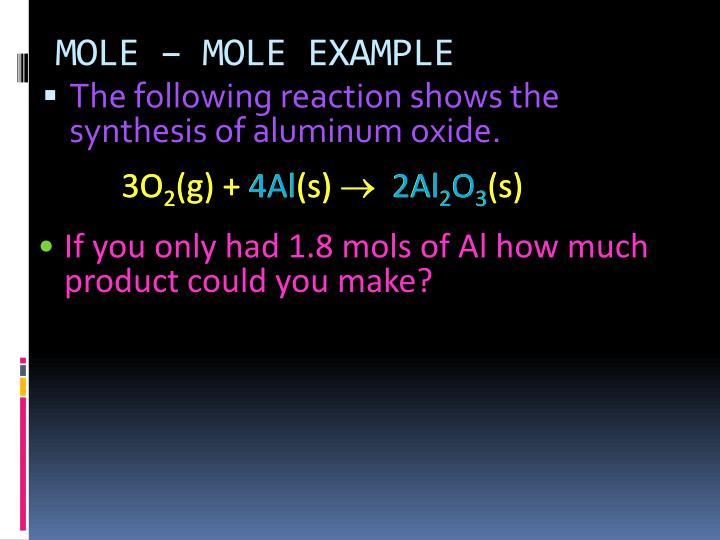 MOLE – MOLE EXAMPLE