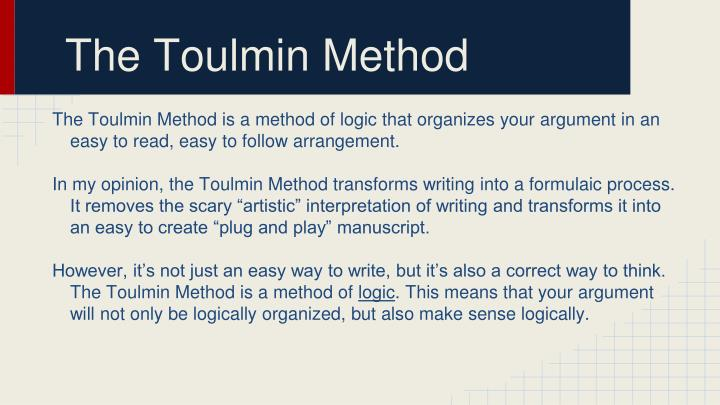 The Toulmin Method