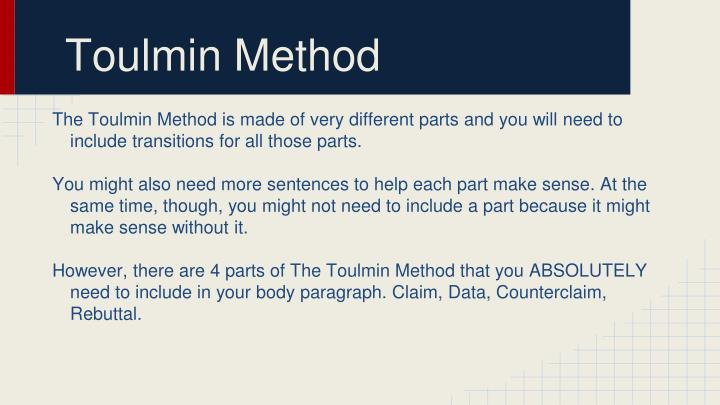 Toulmin Method