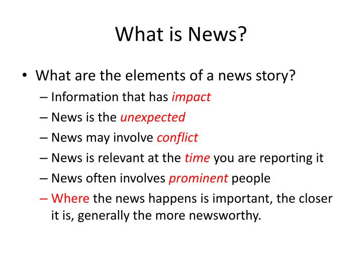 What is news