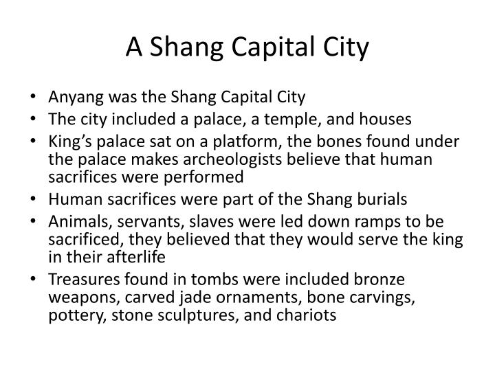 A shang capital city