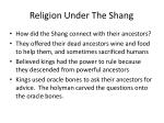 religion under the shang