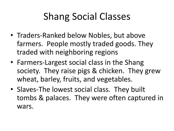 Shang Social Classes