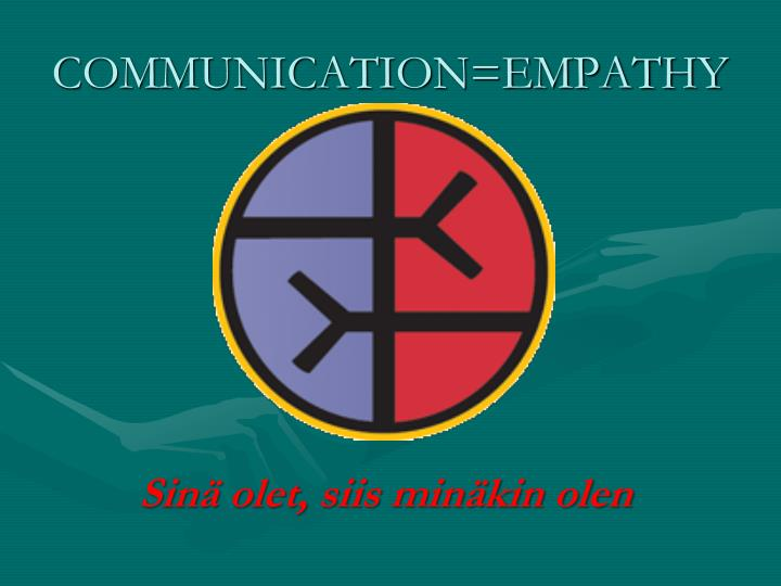 essays empathy communication Introduction: this report will discuss empathy and how it is applied in a health care setting, when developing client care relationships.