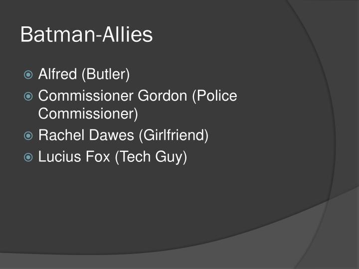 Batman-Allies