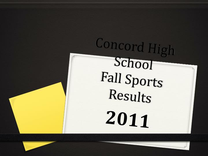 concord high school fall sports results