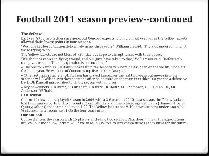 Football 2011 season