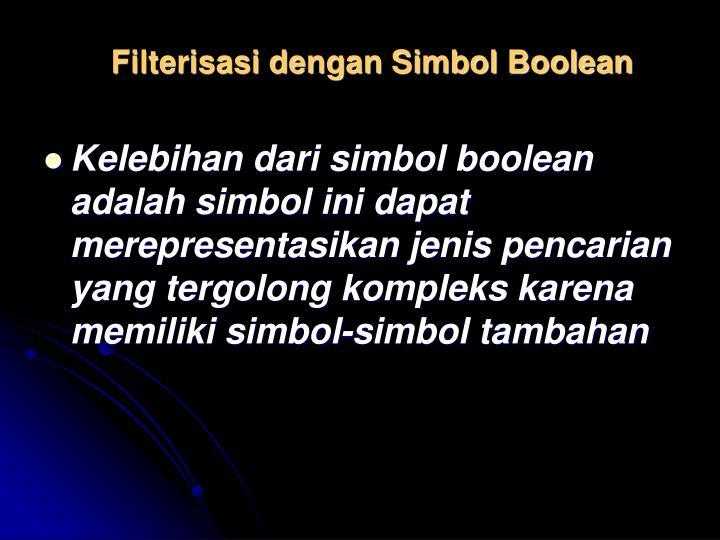 Filterisasi dengan Simbol Boolean
