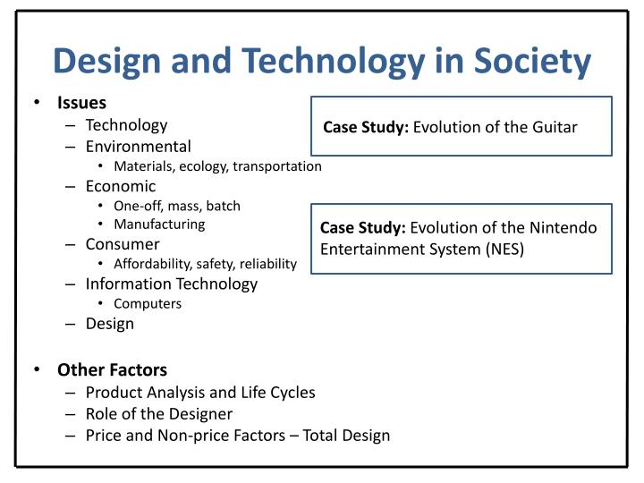 Design and Technology in Society