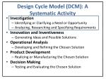 design cycle model dcm a systematic activity1
