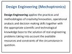 design engineering mechoptronics