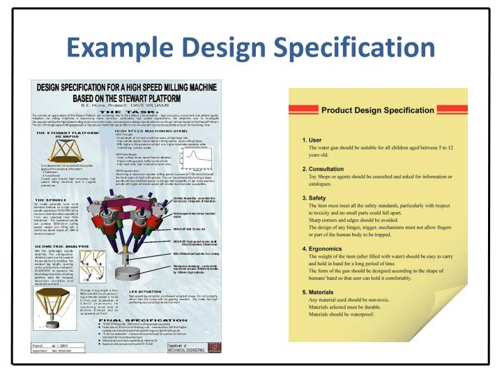 Example Design Specification