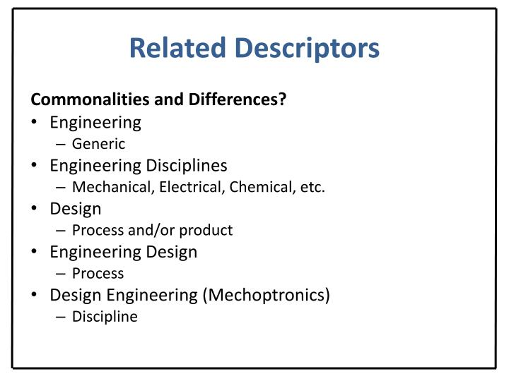 Related Descriptors