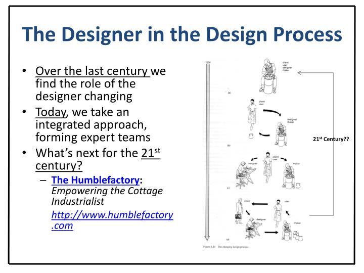 The Designer in the Design Process