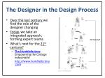 the designer in the design process