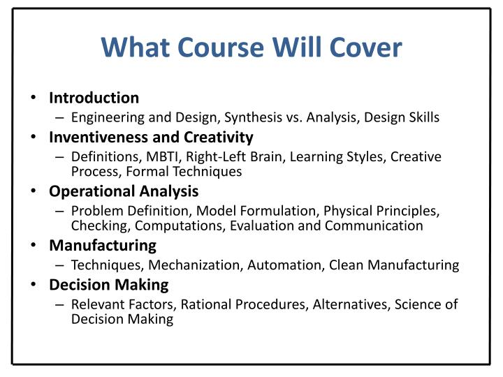 What Course Will Cover