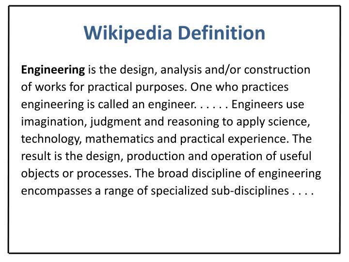 Wikipedia Definition