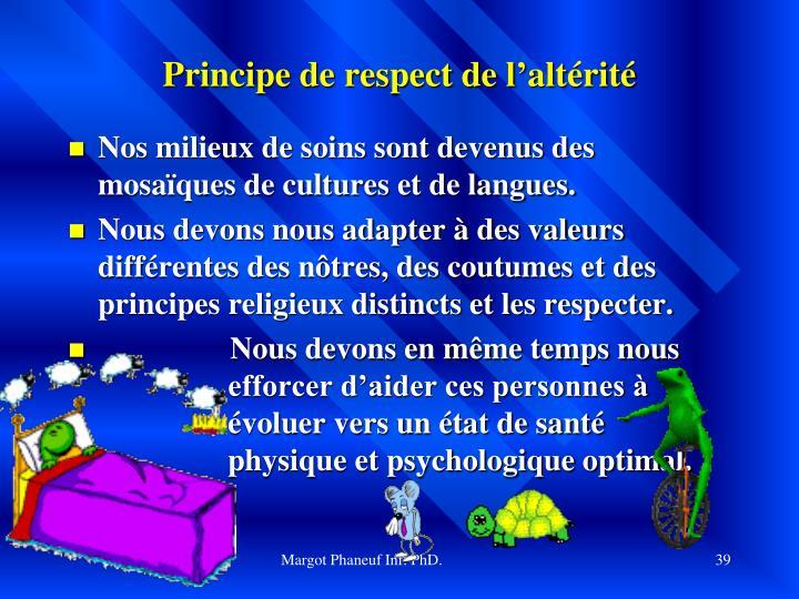 Principe de respect de l'altérité