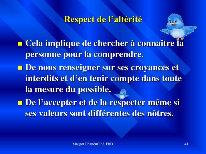 Respect de l'altérité