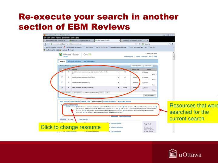 Re-execute your search in another section of