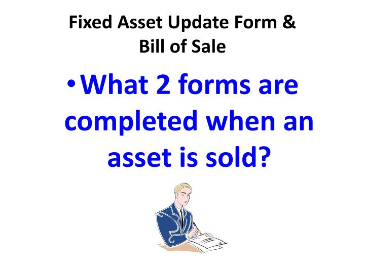 Fixed Asset Update Form &