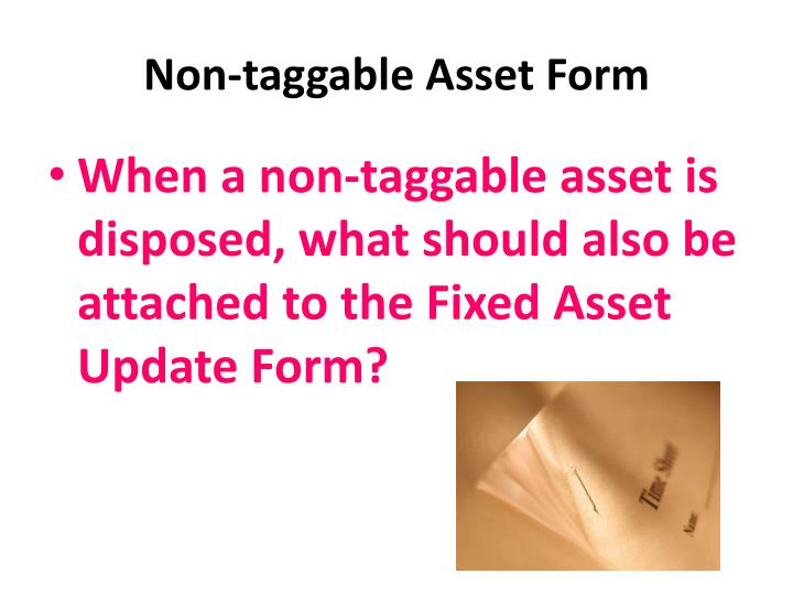 Non-taggable Asset Form