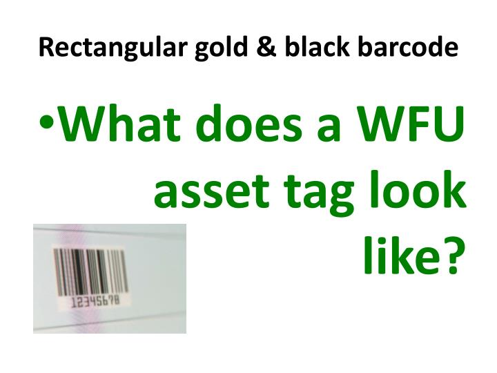 Rectangular gold & black barcode