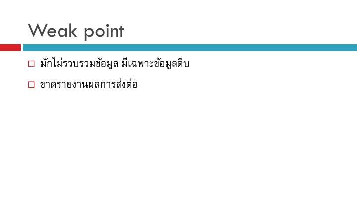 Weak point