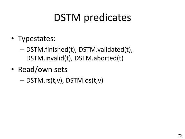 DSTM predicates
