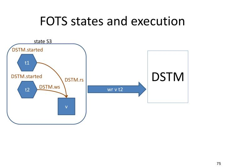 FOTS states and execution