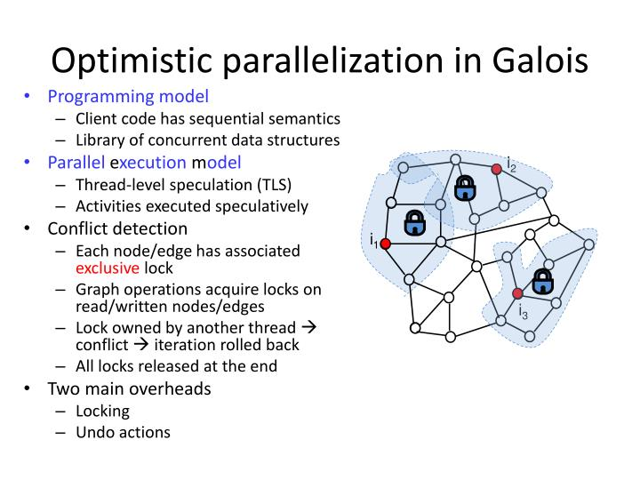 Optimistic parallelization in Galois