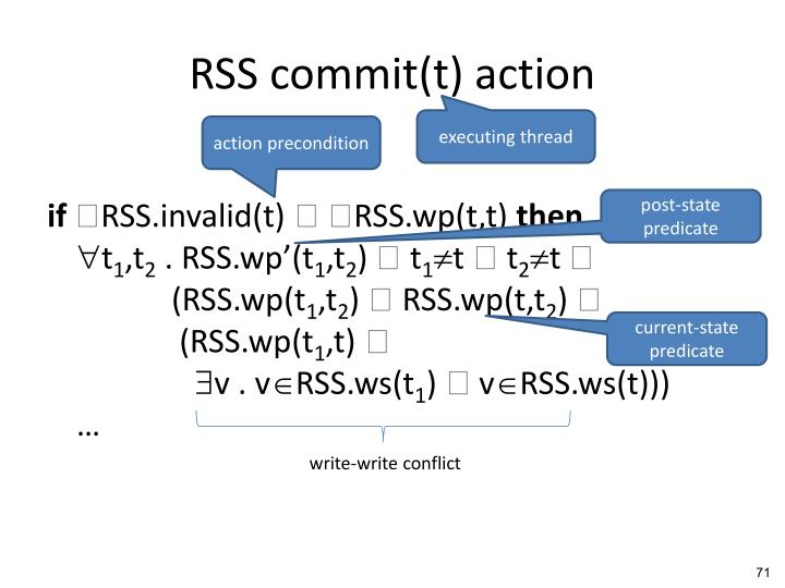 RSS commit(t) action
