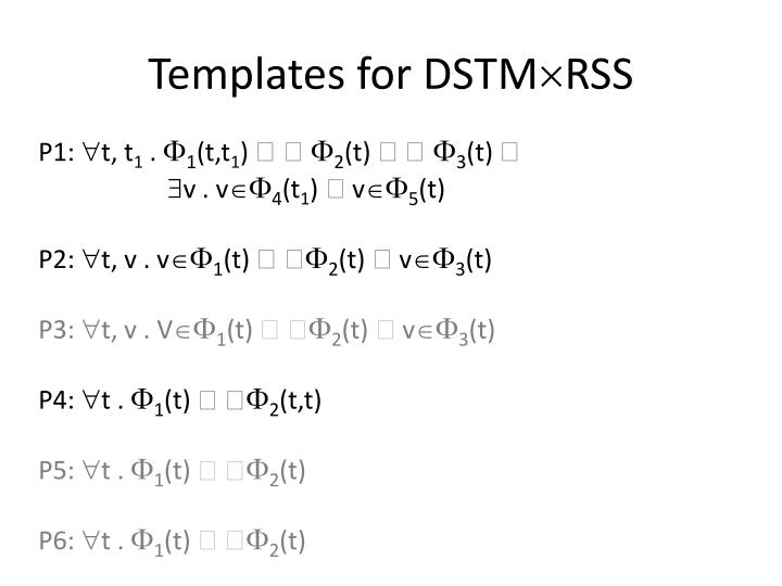 Templates for DSTM