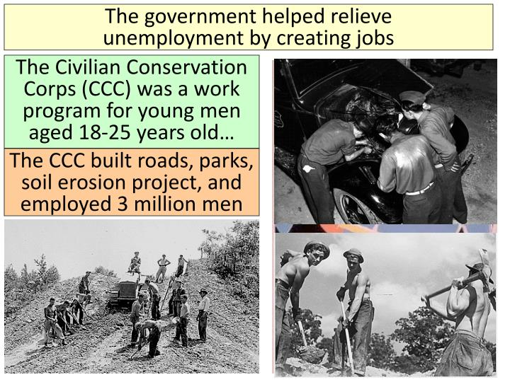 The government helped relieve