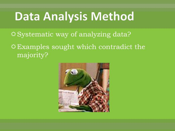 Data Analysis Method