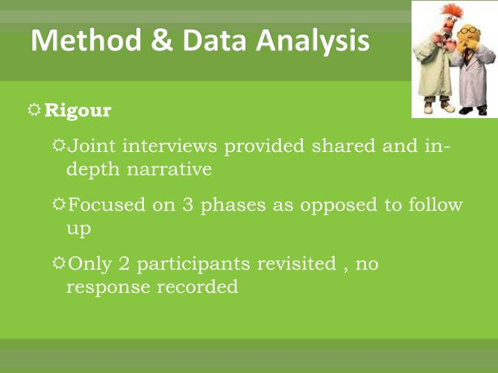 Method & Data Analysis