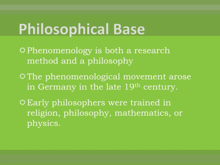 Philosophical Base