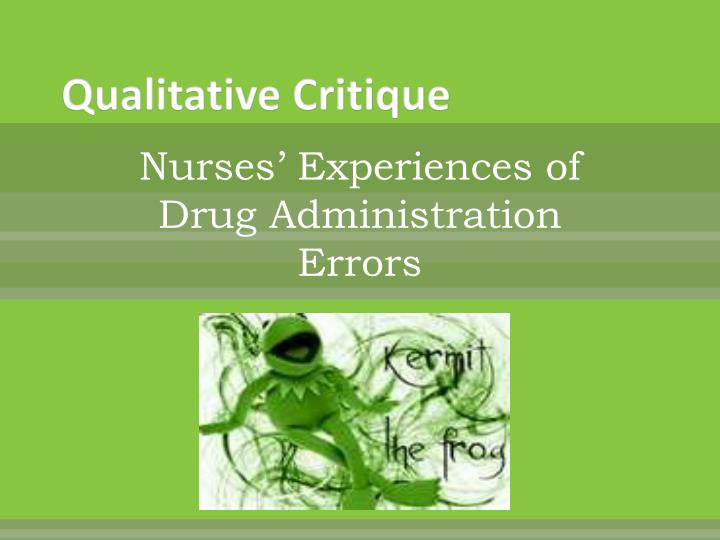 Qualitative Critique