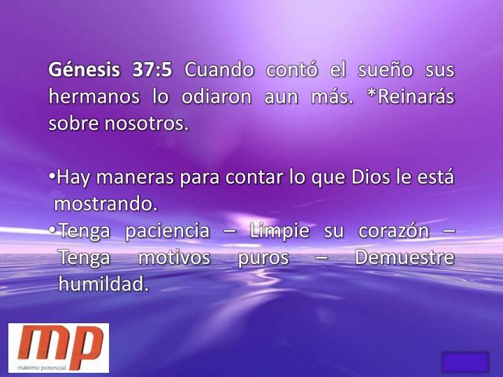 Génesis 37:5