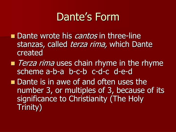 Dante's Form