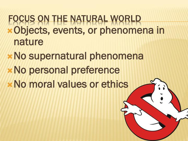 Objects, events, or phenomena in nature