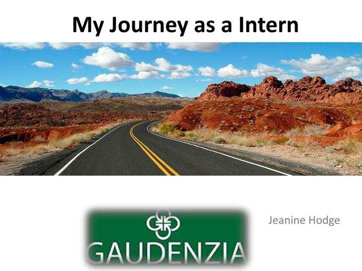 My journey as a intern