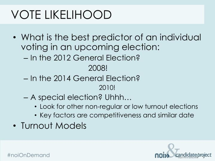 Vote likelihood