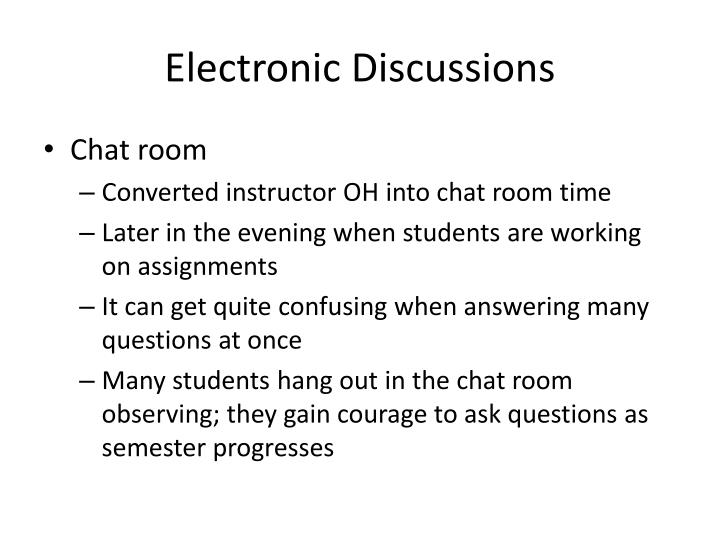 Electronic Discussions