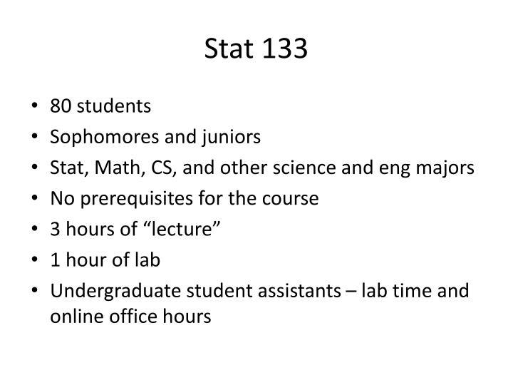 Stat 133