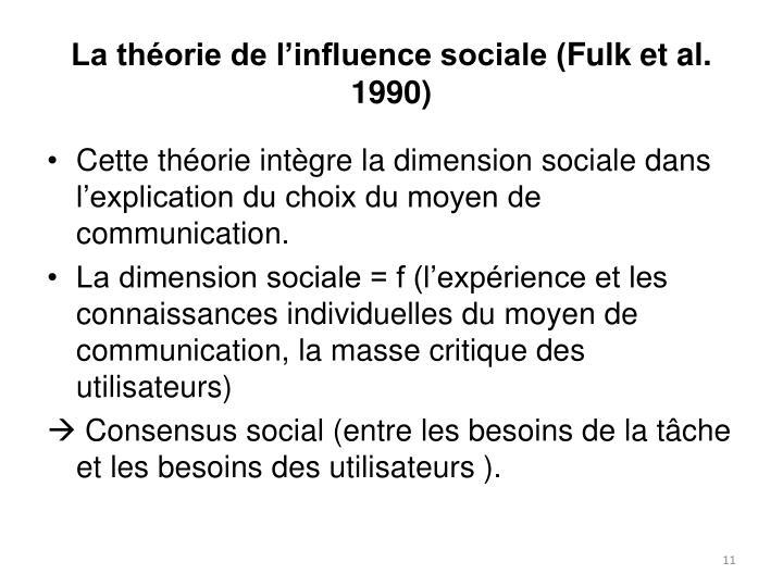 La théorie de l'influence sociale (