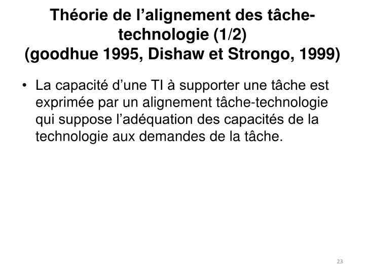 Théorie de l'alignement des tâche-technologie (1/2)
