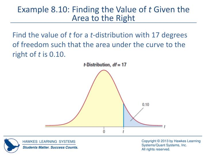 Example 8.10: Finding the Value of