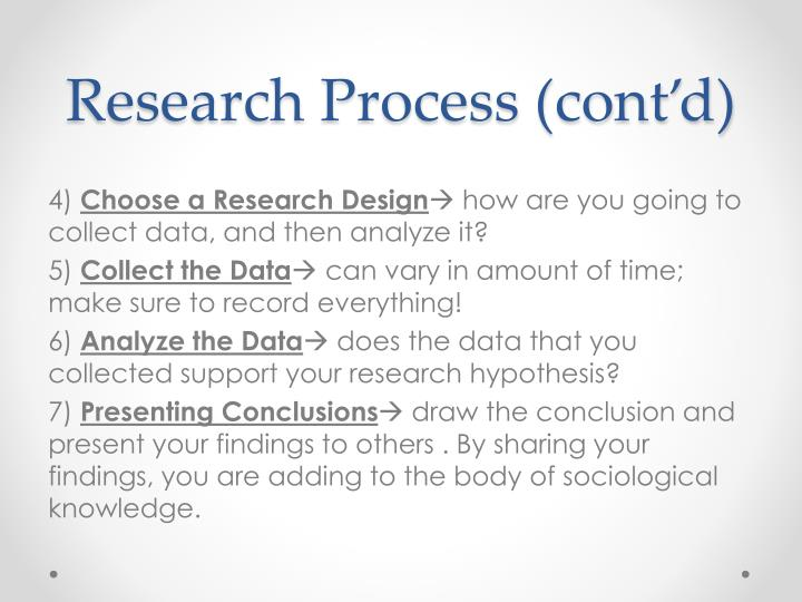 Research Process (cont'd)